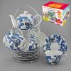 Набор чайный 13пр 200мл на метал.под.  ПЕЙСЛИ с чайником 600мл цв.уп. 586-338 КВ (8)