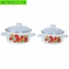 Набор посуды эмал. 2пр. кастр.груш.1,5л;2л 165 4АП2