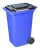 Бак 240л д/мусора на колесах синий (1) М5938