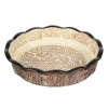Форма для запекания  керамика кругл. с ручк  22х4,5см, шоколад  MILLIMI 826-322