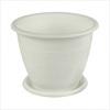 1,2л Горшок д/цветов Розалия белый с под. М1424 (25)