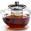 Чайник стекл. завар. 0,6л с мет.сит. 26807МВ (12)