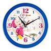 Часы пластик круг МАША.ВКУС.СНЕЖИНКИ П1-10/7