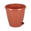 1,5л Горшок д/цветов Рондо с под. коричн М6093 (32)