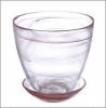 Горшок д/цветов 0,85л с поддоном стекло алеб. кор. 164-140 (6)