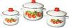 Набор посуды эмал. 3пр. кастр.конич.2;4;5,5л 1с408 (1)(36)