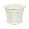 1,5л Горшок д/цветов Гармония белый с под. М1409 (30)