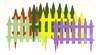Заборчик садовый Солнечный сад 2,67м h34см/7секц.*7пласт.(17)