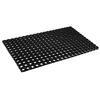 Коврик ячеистый 50x80x1,6см черный, грязезборный, резиновый 466-344