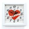 Часы пластик квадрат СЕРДЦЕ П3-7-124