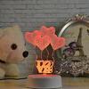 Светильник LED СЕРДЦА 18см пластик 597-138(4)