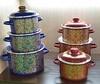 Набор посуды эмал. 3пр. кастр.2;3;5,5л 3кв191м (1)