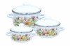 Набор посуды эмал. 3пр. кастр. 1,5;2;4л 1ка071м