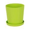 2,5л Горшок д/цветов Триумф с под зеленый М4966 (18)