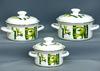 Набор посуды эмал. 3пр. БАМБУК-1 кастр. цилиндр.  1;1,5;2,3л  Керчь Бамбук-1