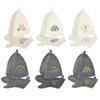 Набор банный 2 пр. (шапка, варежка) с вышивкой, 30% шерсть, 70% полиэфир, 2цв 364-208