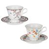 Чайная пара 220мл 15см, Розовая весна костяной фарфор, 2 дизайна MILLIMI 802-106