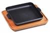 Сковорода чугун 18см квадр. на подставке порционная Н181825-Д