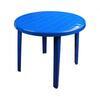 Стол пластиковый круг. 900х900х750 синий М2663