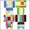 Ковриков набор 2шт для ванной и туалета, акрил, 50x80см + 50x50см, 4диз 462-649