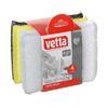Губка д/посуды с поролоном 4 шт 8х12 см. VETTA  441-164 (12)