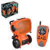 Игрушка РУ в виде робота-шпиона с рацией, 27МГц, ABS, 6хААА, движ., свет,звук, 25x11x18,5см 293-073