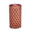 Свеча пеньковая с глиттером, парафин, 5x9,5см, 12 дизайнов 396-642 (12)