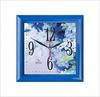 Часы пластик квадрат СИНИЕ ЦВЕТЫ П3-4-121