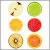 Мялка в виде половинки фрукта резина 15см 3диз 297-052 (12)