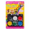 Набор грима с блестками, 6 цветов, аппликатор в комплекте, 12,7х18,8см, масляный грим, пластик 284-1