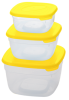 Набор контейнеров д/СВЧ 3шт/набор0,8+1,8+2,6л ПЦ 2233 (28)