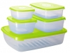 Набор контейнеров 1,2+1,6+4,75л прямоуг и квадр. 0,5+1л. GALAXY ПЦ 2226 (18)