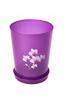 """3,5л Горшок цв. д/орхидеи """"Декор"""" (прозрачно-фиолет.) (уп.20) М7546"""