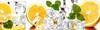 """Фартук кухонный ИП 20000*600*1,5мм СОЧНЫЕ ФРУКТЫ """"Апельсины и лед"""" 10"""