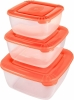 Набор контейнеров кв.3шт (0,46л+0,95л+1,5л) POLAR  (ТУМГОЛ/КОР) РТ1683 (8)