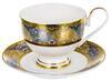 Чайная пара 240мл САКСОНИЯ  золотой орнамент в под. упак.  125-14008